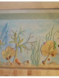 """"""" Blue lagoon 2 """" płaskorzeźba naścienna"""
