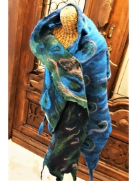 "Shawl ""peacock feathers""  2"