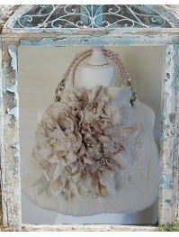 """Beige bouquet"" bag"