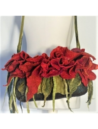"""Red flowers"" bag"