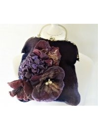 """Purple flowers"" retro bag"
