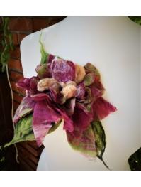 Brooch: tropical amaranth