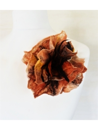 Brooch: fiery flower